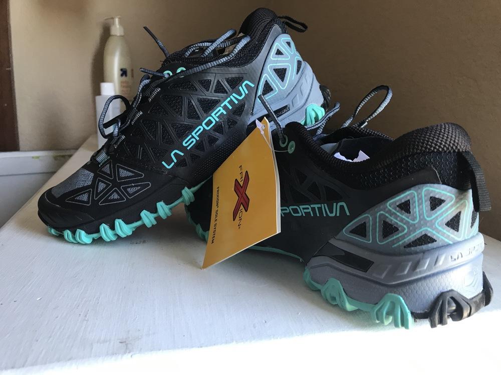 Women/'s Shoes Trail Running La Sportiva Bushido II Col.slate//Aqua