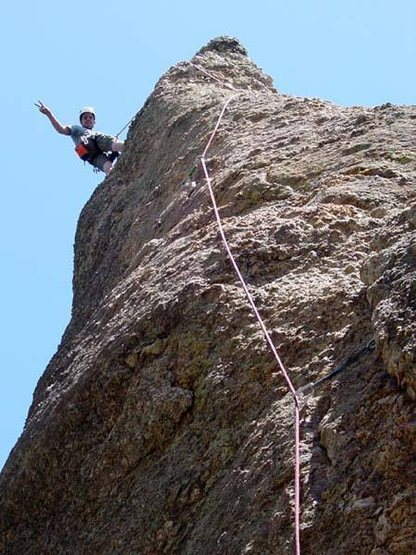 Almost ready to belay. Summer 2002