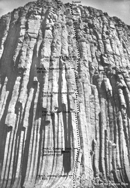 Climbed Durrance in June 1950 without <br> hardware