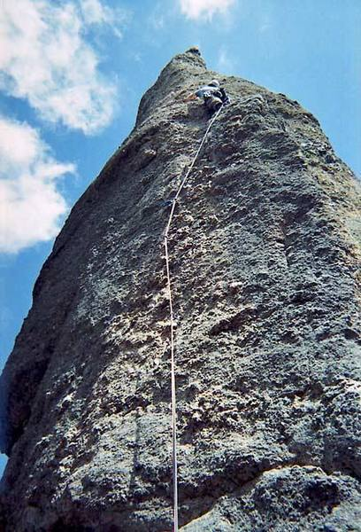 Will utilizes the one great stance on this route before heading up into the unknown.