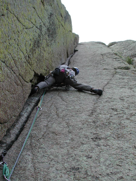 Mike leading the second pitch.