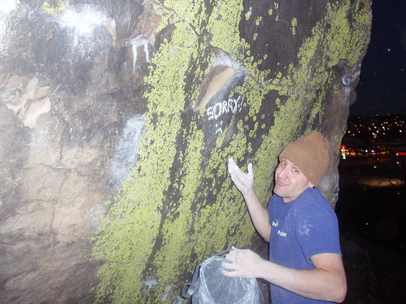 The unfortunate breaking of the main hold on the Green Monster boulder, what can you do