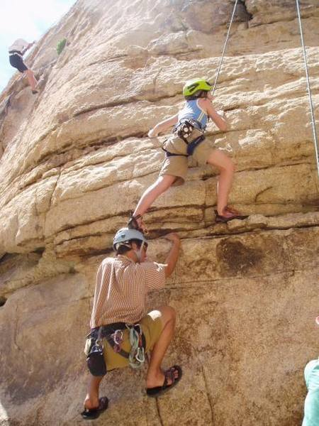 Some of the moves on this route are a little reachy for short people...