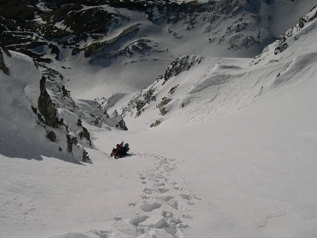 This photo was taken on June 1, 2004. One foot of fresh snow.