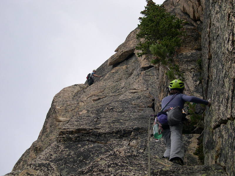 Following the second pitch of the Boving-Pollack. (Photo thanks to Matt Farmer)