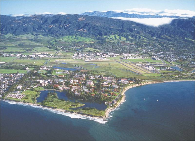 Looking out at Santa Barbara (mainly UCSB) and the mountains.