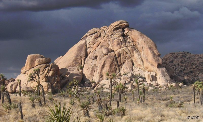 Echo Rock just before a November storm in 04