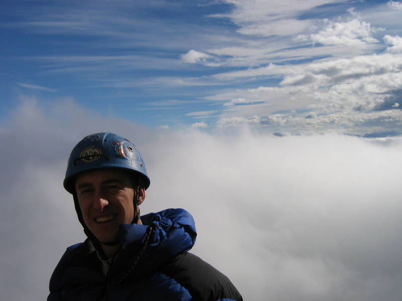 Me above the clouds on Mt Yamnuska