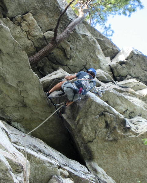 Mike Amato firing the wild crux of Modern Times.  Can you believe this move is only rated 5.8+?