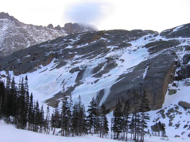 Black Lake Slabs and Long's Peak taken Feb. 25, 2006.