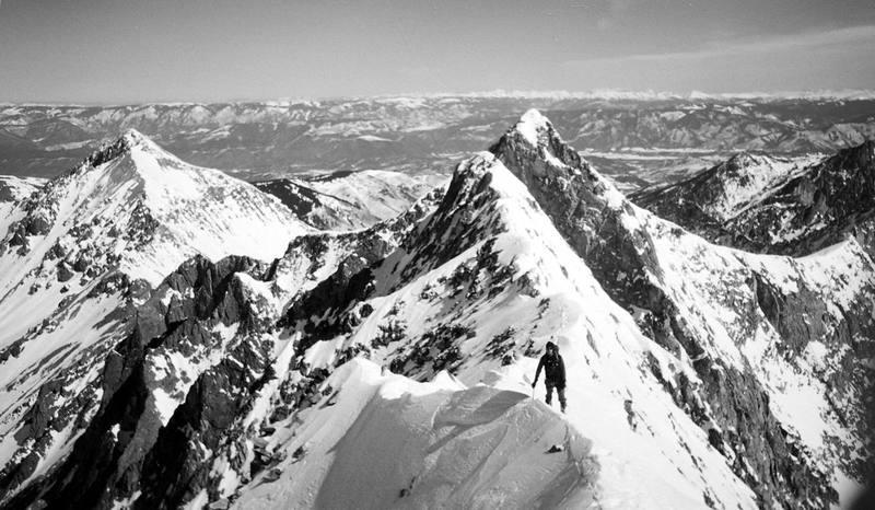 Capitol Peak in Winter - Taken from the Knife Ridge looking back at K2