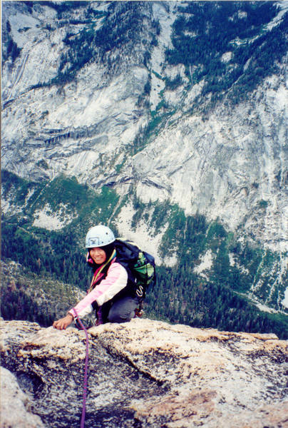 Melody pauses high above Bubbs Creek.