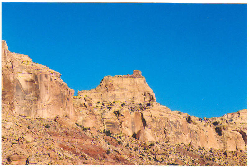 The Sphinx Tower from the parking area at the end of the mile dirt road.