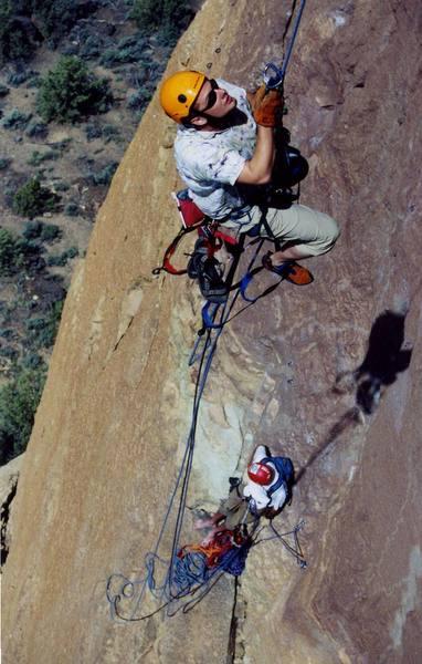 Jason Killian jugging the bolt ladder