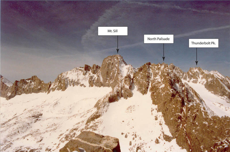 Sill, North Pal, and Thunderbolt from the summit of Temple Crag.