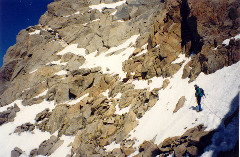 Fred on the other side of the summit ridge.