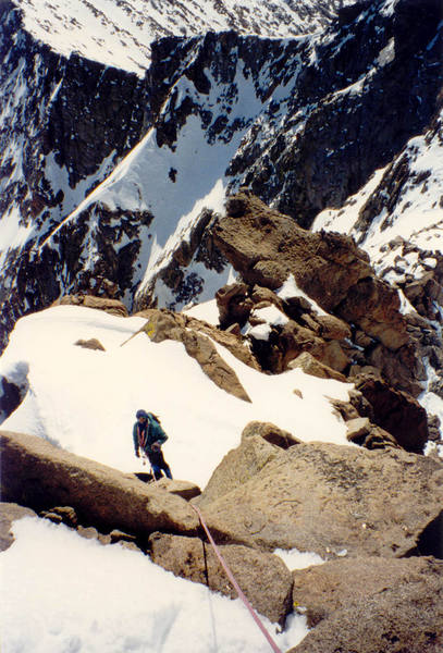 Approaching the summit.
