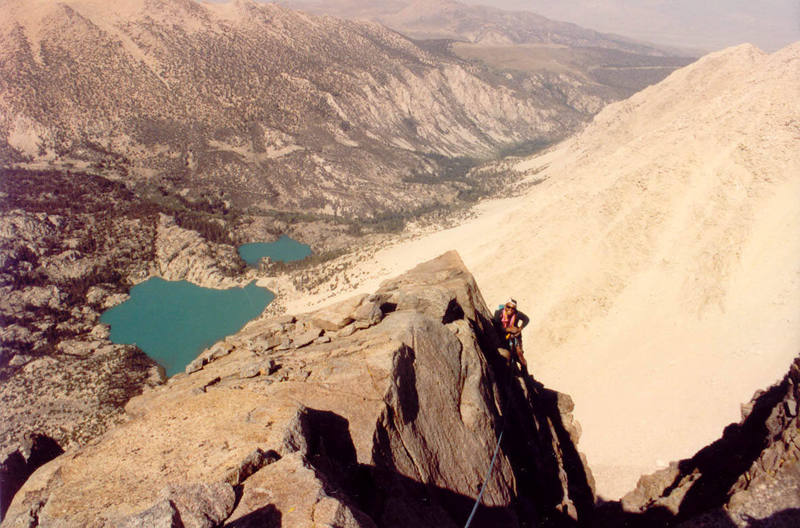 High on the route - Second and First Lakes behind.