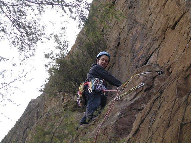 Keith Hoek just below the juniper.