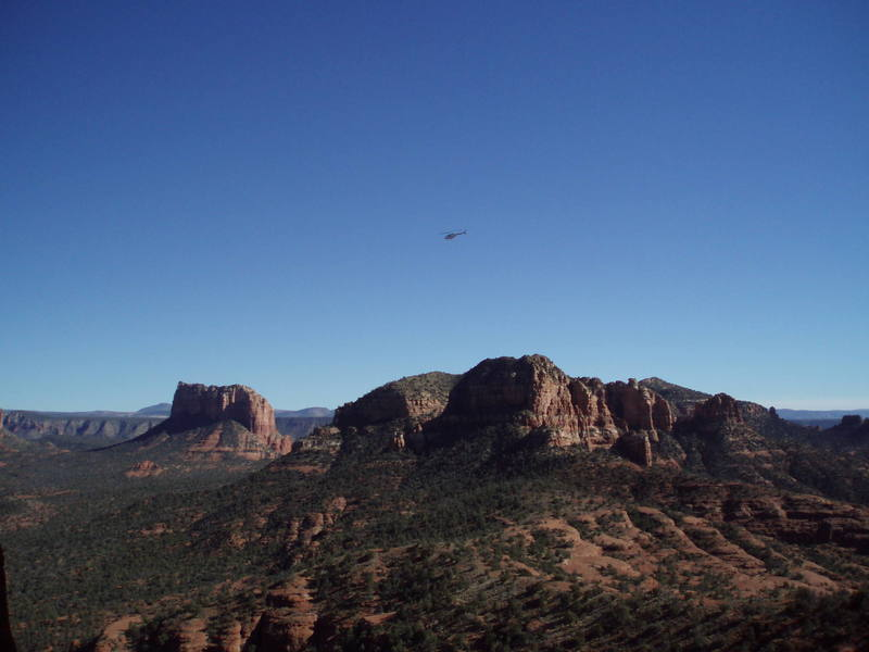 A view from the Dodger<br> w/courthouse butte on the left