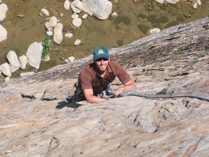 Mike Nesbitt of Ventura, all smiles on P1 of Ending Crack - May 2002.