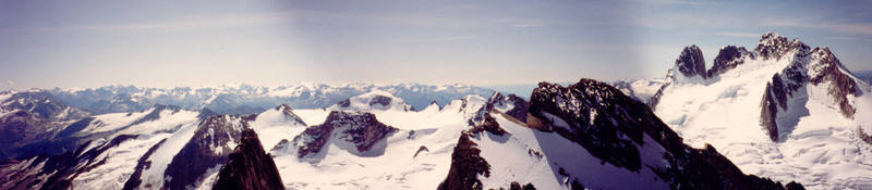 Summit panoarama Bugaboo Spire.