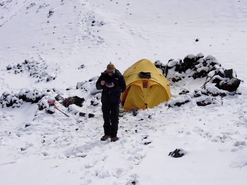 Camp at Cotopaxi Ecuador