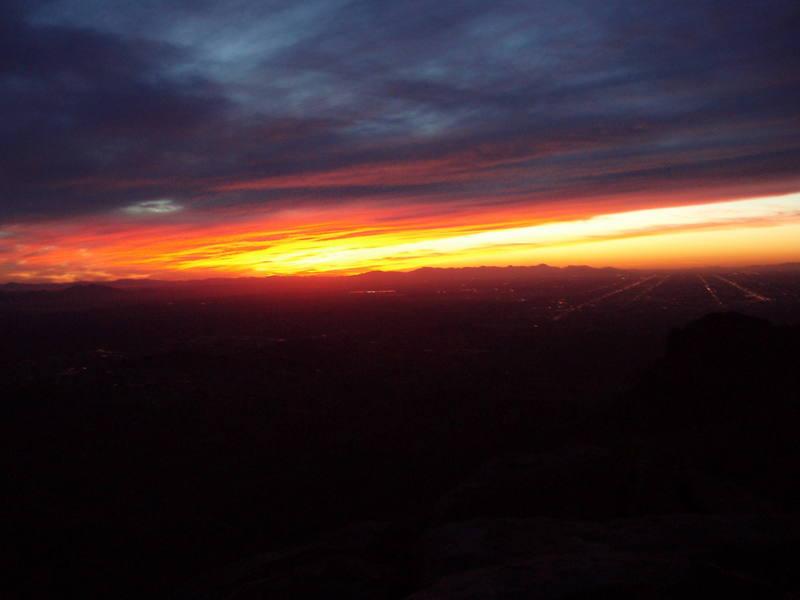 Sunset on top of the Acropolis Via S/E Ridge