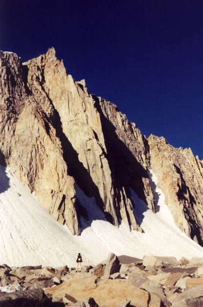 Tony Tennessee approaches the North Buttress.