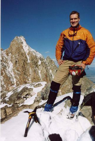 After soloing Middle Teton Glacier and E Ridge in fresh fall conditions.