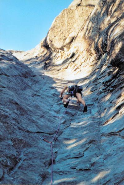 Karsten climbing Hydrotube.