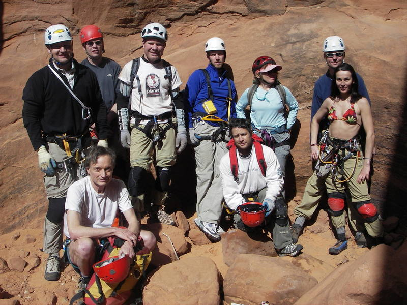 with Ryan and the rest of the ACA gang<br> march 06 canyoneering north wash Hog4<br>  THE EMPEROR is taking the picture