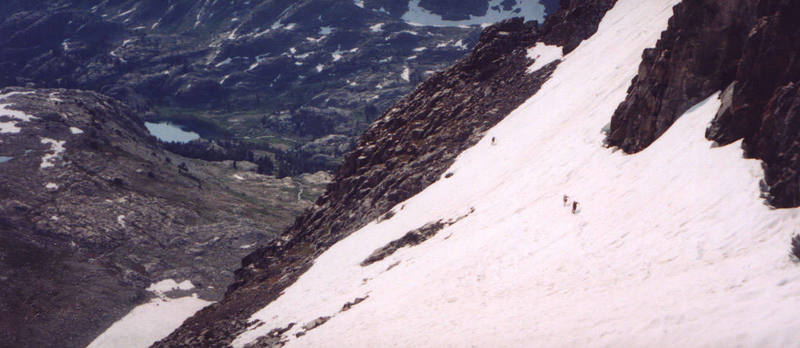 Crossing the 2nd snowfield (after a detour)