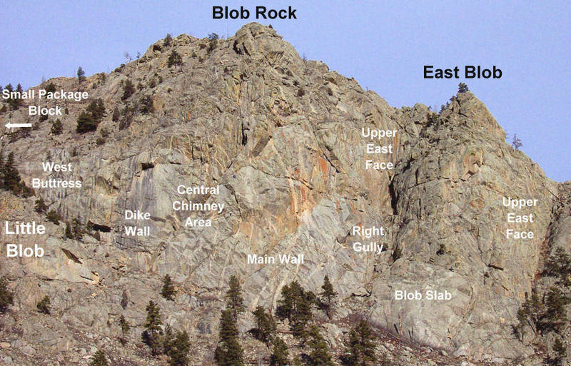 Blob Rock Area.<br> <br> Original photo by Jack Wyatt.