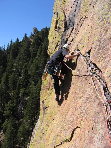 Gary P. on the traverse.
