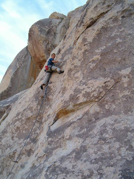 Andy on Get Right or Get Left (5.9), Joshua Tree NP