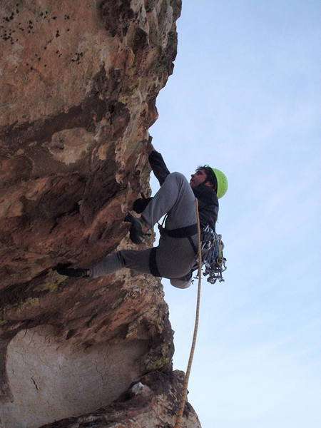 5.10- pitch high on the route