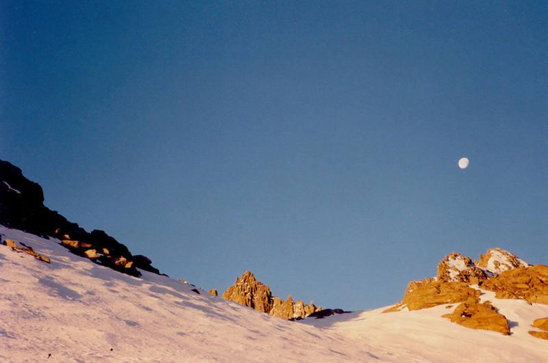 Starlight Peak behind the Palisade Moraine