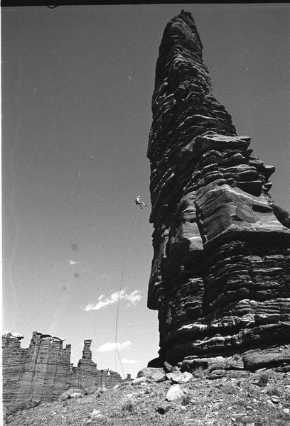 standing rock in canyonlands