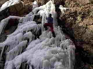 This was my first Ice climb. This is on big cotton wood, storm mountain picnic area north face. I don't know the rate of the climb but was a trill.