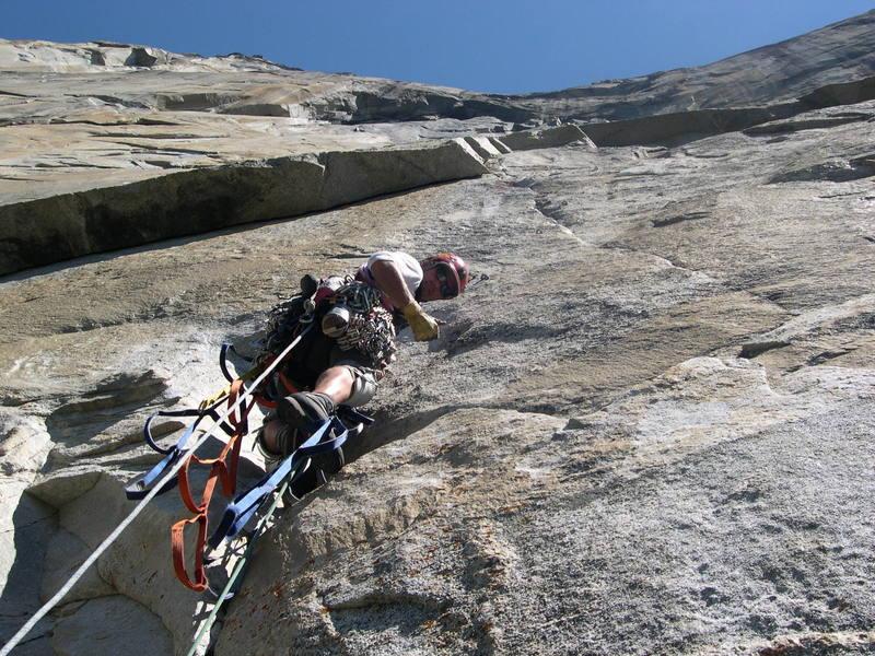 Leading on the Big Stone NA wall