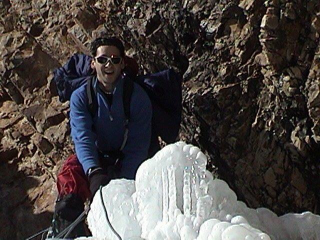 ice climb-Big cottonwood.