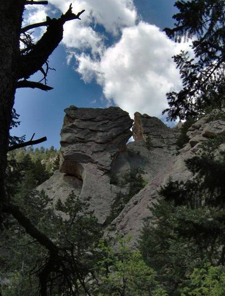 taken from the west on the Royal Arch Trail