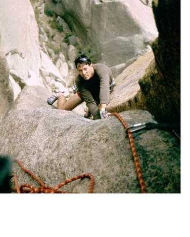 Tony Bubb on Wunch's Dihedral (5.11) South Platte, Colorado. Image by Joseffa Meir, 2003?