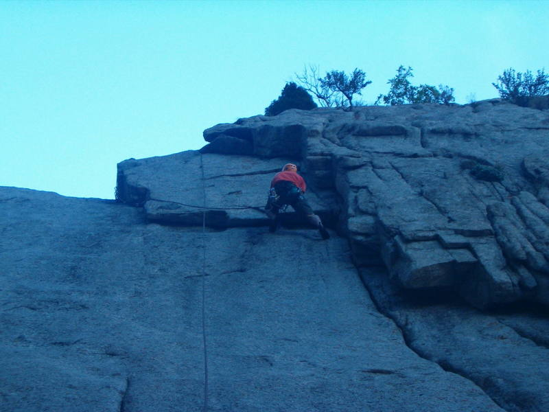 Rob, moving on the traverse.