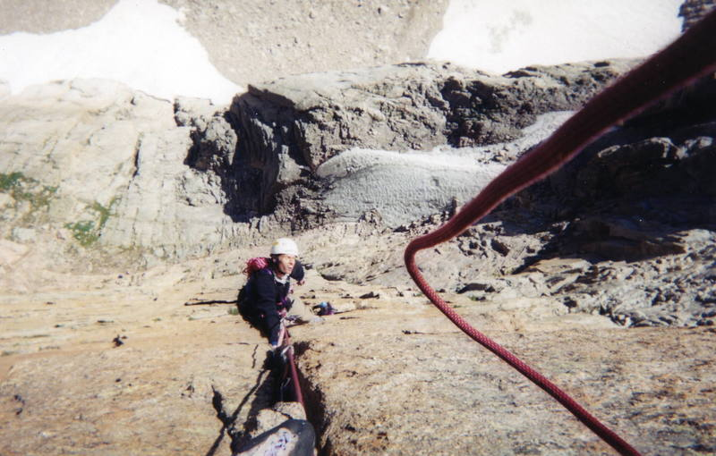 The crux pitch of Pevertival Sanctuary. Steep!