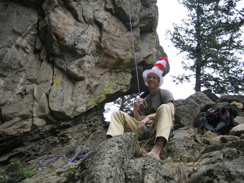 Chilling at Bell Buttress in Boulder Canyon.