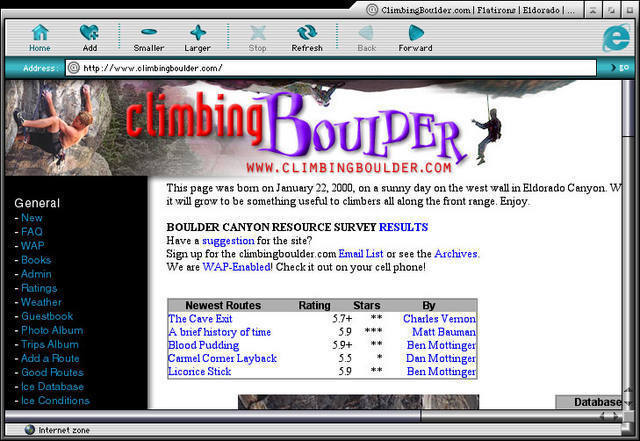 An even older look for the site - March 2000 - March 2001.