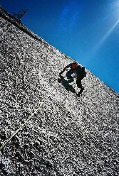 Runout friction climbing is the name of the game!