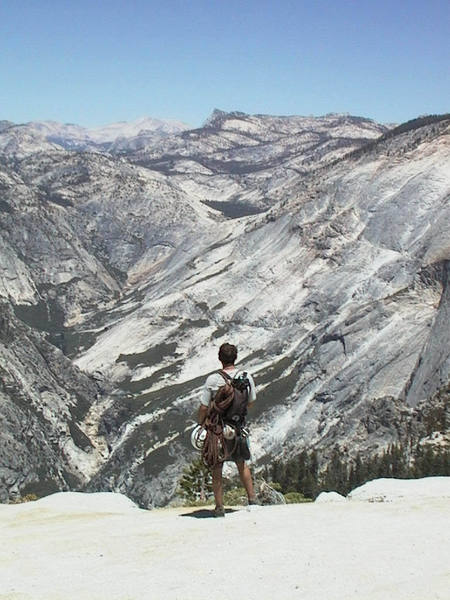 The view from the top of Half Dome is breathtaking